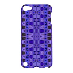 Blue Black Geometric Pattern Apple Ipod Touch 5 Hardshell Case by BrightVibesDesign