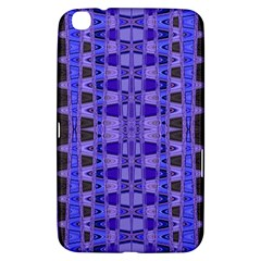 Blue Black Geometric Pattern Samsung Galaxy Tab 3 (8 ) T3100 Hardshell Case  by BrightVibesDesign