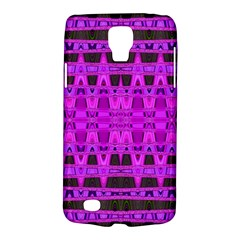 Bright Pink Black Geometric Pattern Galaxy S4 Active