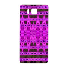 Bright Pink Black Geometric Pattern Samsung Galaxy Alpha Hardshell Back Case by BrightVibesDesign