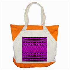 Bright Pink Black Geometric Pattern Accent Tote Bag
