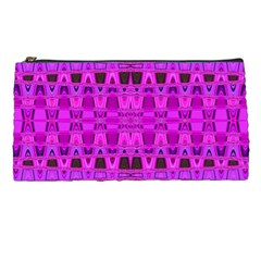 Bright Pink Black Geometric Pattern Pencil Cases