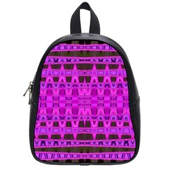 Bright Pink Black Geometric Pattern School Bags (small)  by BrightVibesDesign