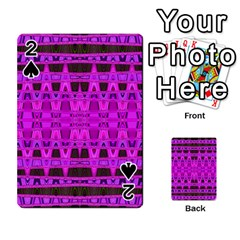 Bright Pink Black Geometric Pattern Playing Cards 54 Designs