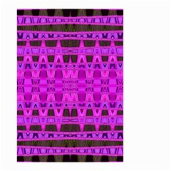 Bright Pink Black Geometric Pattern Small Garden Flag (two Sides)