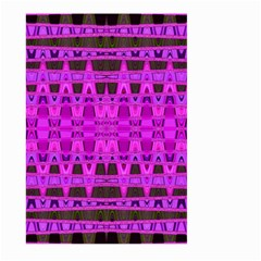 Bright Pink Black Geometric Pattern Large Garden Flag (two Sides)