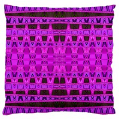 Bright Pink Black Geometric Pattern Large Cushion Case (two Sides)