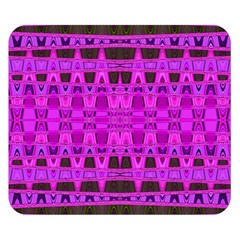 Bright Pink Black Geometric Pattern Double Sided Flano Blanket (small)