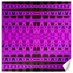 Bright Pink Black Geometric Pattern Canvas 12  X 12