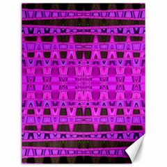 Bright Pink Black Geometric Pattern Canvas 12  X 16