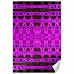 Bright Pink Black Geometric Pattern Canvas 20  X 30