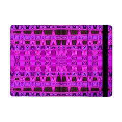 Bright Pink Black Geometric Pattern Apple Ipad Mini Flip Case