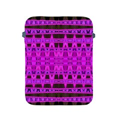 Bright Pink Black Geometric Pattern Apple Ipad 2/3/4 Protective Soft Cases