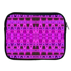 Bright Pink Black Geometric Pattern Apple Ipad 2/3/4 Zipper Cases by BrightVibesDesign