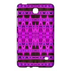 Bright Pink Black Geometric Pattern Samsung Galaxy Tab 4 (8 ) Hardshell Case