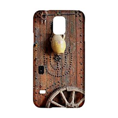 Oriental Wooden Rustic Door  Samsung Galaxy S5 Hardshell Case  by TastefulDesigns