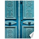 Turquoise Oriental Old Door Canvas 12  x 16   16 x12 Canvas - 1