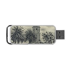 Butterflies Dark Pattern Portable Usb Flash (one Side) by dflcprints