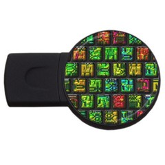 Colorful Buttons               			usb Flash Drive Round (4 Gb) by LalyLauraFLM