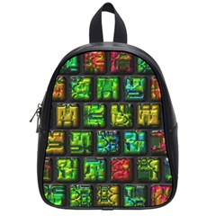 Colorful Buttons               			school Bag (small) by LalyLauraFLM
