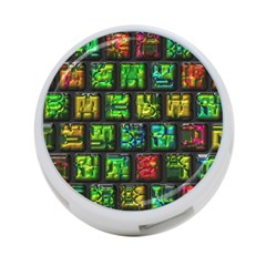 Colorful Buttons               			4 Port Usb Hub (one Side) by LalyLauraFLM