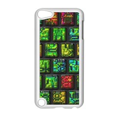 Colorful Buttons               			apple Ipod Touch 5 Case (white) by LalyLauraFLM