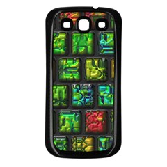 Colorful Buttons               			samsung Galaxy S3 Back Case (black) by LalyLauraFLM