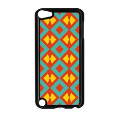 Blue Rhombus Pattern                			apple Ipod Touch 5 Case (black) by LalyLauraFLM