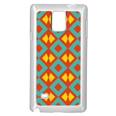 Blue Rhombus Pattern                			samsung Galaxy Note 4 Case (white) by LalyLauraFLM