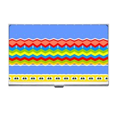 Colorful Chevrons And Waves                 			business Card Holder by LalyLauraFLM