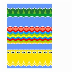 Colorful Chevrons And Waves                 Small Garden Flag by LalyLauraFLM