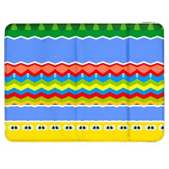 Colorful Chevrons And Waves                 			samsung Galaxy Tab 7  P1000 Flip Case by LalyLauraFLM