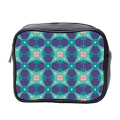 Blue Stars Pattern                  Mini Toiletries Bag (two Sides) by LalyLauraFLM