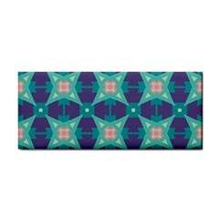 Blue Stars Pattern                  			hand Towel by LalyLauraFLM