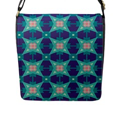 Blue Stars Pattern                  			flap Closure Messenger Bag (l) by LalyLauraFLM