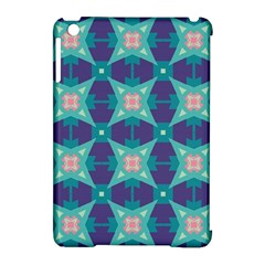 Blue Stars Pattern                  			apple Ipad Mini Hardshell Case (compatible With Smart Cover) by LalyLauraFLM