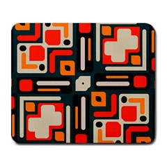 Shapes In Retro Colors Texture                   			large Mousepad by LalyLauraFLM