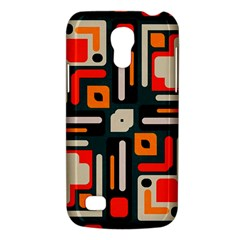 Shapes In Retro Colors Texture                   			samsung Galaxy S4 Mini (gt I9190) Hardshell Case