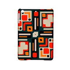 Shapes In Retro Colors Texture                   			apple Ipad Mini 2 Hardshell Case by LalyLauraFLM