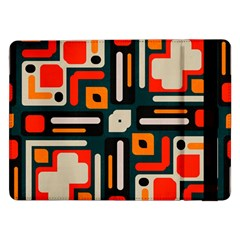 Shapes In Retro Colors Texture                   			samsung Galaxy Tab Pro 12 2  Flip Case by LalyLauraFLM