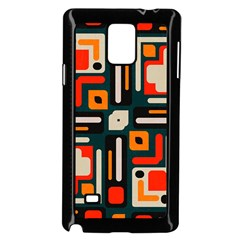 Shapes In Retro Colors Texture                   			samsung Galaxy Note 4 Case (black) by LalyLauraFLM