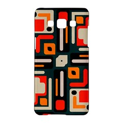Shapes In Retro Colors Texture                   			samsung Galaxy A5 Hardshell Case by LalyLauraFLM