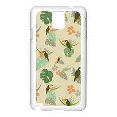 Tropical Garden Pattern Samsung Galaxy Note 3 N9005 Case (white) by TastefulDesigns
