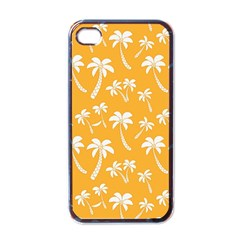 Summer Palm Tree Pattern Apple Iphone 4 Case (black) by TastefulDesigns