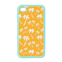 Summer Palm Tree Pattern Apple Iphone 4 Case (color) by TastefulDesigns