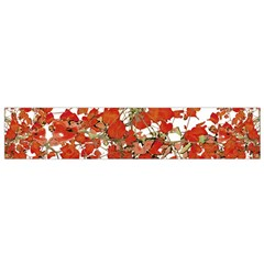 Vivid Floral Collage Flano Scarf (small) by dflcprints