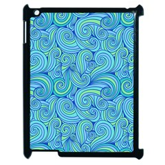 Abstract Blue Wave Pattern Apple Ipad 2 Case (black) by TastefulDesigns
