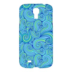 Abstract Blue Wave Pattern Samsung Galaxy S4 I9500/i9505 Hardshell Case by TastefulDesigns
