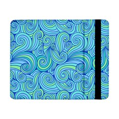 Abstract Blue Wave Pattern Samsung Galaxy Tab Pro 8 4  Flip Case by TastefulDesigns