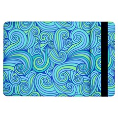 Abstract Blue Wave Pattern Ipad Air Flip by TastefulDesigns